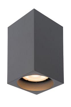 Lucide LED Plafondspot Delto GU10 1 x 5 W vierkant grijs