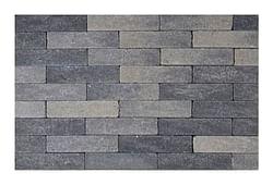 Pavé tambouriné waal 20 x 5 x 6 cm gris/noir