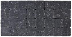 Cobo garden Pavé tambouriné 10 x 10 x 4 cm noir