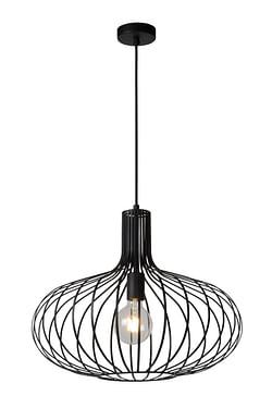 Lucide LED Lustre Manuela 1 x E27 zwart Ø 50 cm