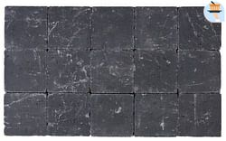 Cobogarden Pavé tambouriné 15 x 15 x 6 cm noir