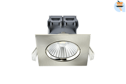 Energetic Spot encastrable LED Apollo 3 x 4,8 W 4000 K carré nickel