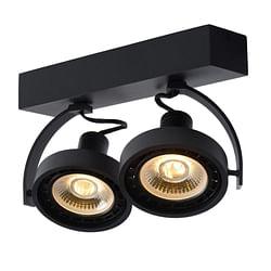 Lucide LED Spot plafond  Dorian GU10 2 x 12 W oblong noir