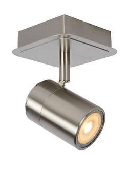 Lucide LED Spot plafond Lennert GU10 1 x 5 W carré chrome matte