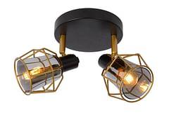 Lucide LED Spot plafond Nila 2 x E14 ronde noir / or