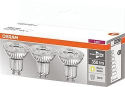 Osram Spot LED BASE Par16 GU10 3,6 W 350 Lm 2700 K 3 pièces