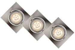 Lucide LED Spot encastrable Focus GU10 3 x 5 W carré chrome mat