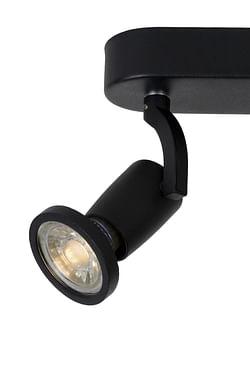 Lucide LED Spot plafond Jaster GU10 2 x 5W oblong noir