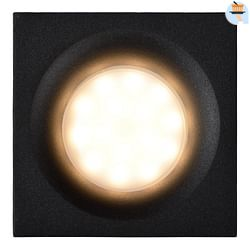 Lucide LED Spot encastrable ZIVA 1 x GU10 carré IP44 noir