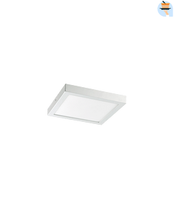 Ethos Plafonnier LED 1 x 12 W carré blanc