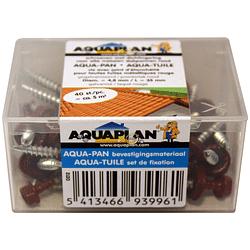 Aquaplan Aqua-Tuile vis 40 pièces rouge