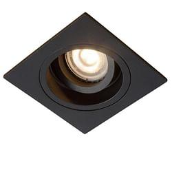 Lucide LED Spot encastrable Embed 1 x GU10 carré noir