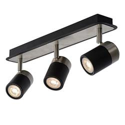 Lucide LED Spot plafond Lennert GU10 3 x 5 W oblong noir