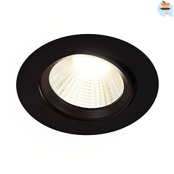 Energetic LED Spot encastrable Dorado 3 x 5,5 W 2700 K ronde noir