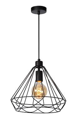 Lucide LED Lustre Kyara 1 x E27 noir Ø 32 cm