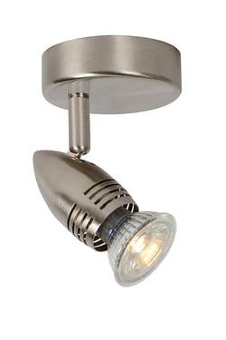 Lucide LED Spot plafond Caro GU10 1 x 5 W ronde chrome matte