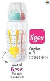 Zuigfles air control-Tigex