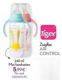Zuigfles air control met handvatten-Tigex