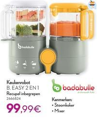 Badabulle keukenrobot b. easy 2 en 1 recupel inbegrepen-Badabulle