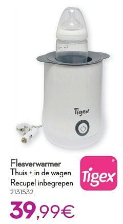 Tigex flesverwarmer thuis + in de wagen recupel inbegrepen