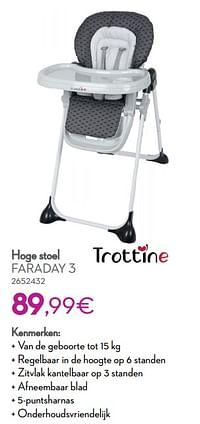Hoge stoel faraday 3-Trottine