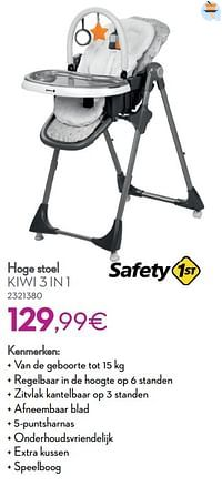 Hoge stoel kiwi 3 in 1-Safety 1st