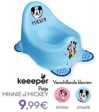 Potje minnie of mickey-Keeeper