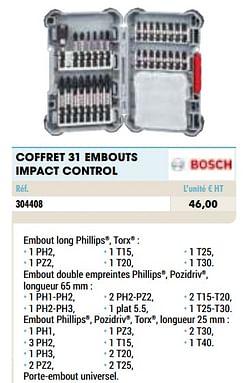 Coffret 31 embouts impact control