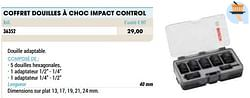 Coffret douilles à choc impact control