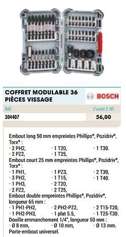 Coffret modulable 36 pièces vissage