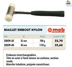 Maillet embout nylon