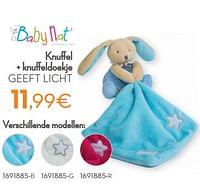 Knuffel + knuffeldoekje geeft licht-Baby Nat