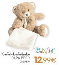 Knuffel + knuffeldoekje papa beer-Baby Nat