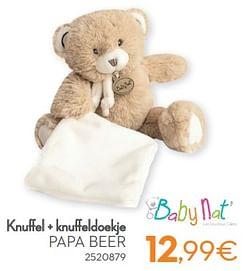 Knuffel + knuffeldoekje papa beer