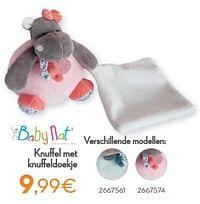 Knuffel met knuffeldoekje-Baby Nat