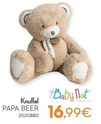 Knuffel papa beer-Baby Nat