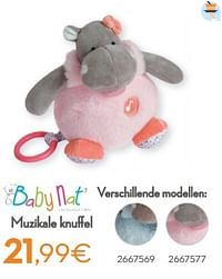 Muzikale knuffel-Baby Nat