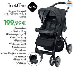 Buggy + groep 0 cassiope 2 in 1