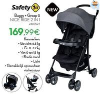 Buggy + groep 0 nice ride 2 in 1-Safety 1st