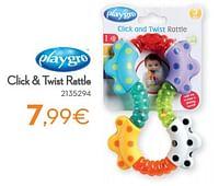 Click + twist rattle-Playgro
