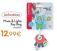 Music + lights key ring-Infantino