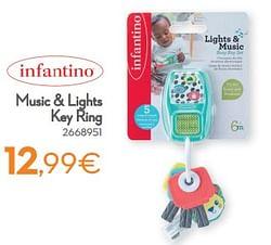 Music + lights key ring