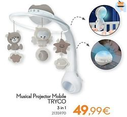 Musical projector mobile tryco 3 in 1