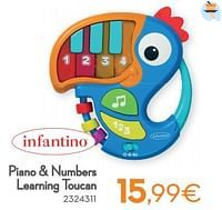 Piano + numbers learning toucan-Infantino