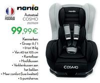 Autostoel cosmo-Nania