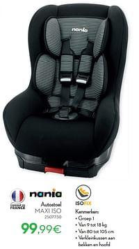 Autostoel maxi iso-Nania