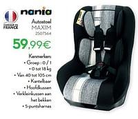 Autostoel maxim-Nania