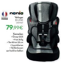 Verhoger b-line-Nania