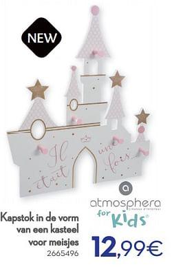Kapstok in de vorm van een kasteel voor meisjes