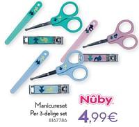 Manicureset per 3-delige set-Nuby